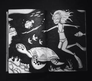 Following the turtle, Gili Islands